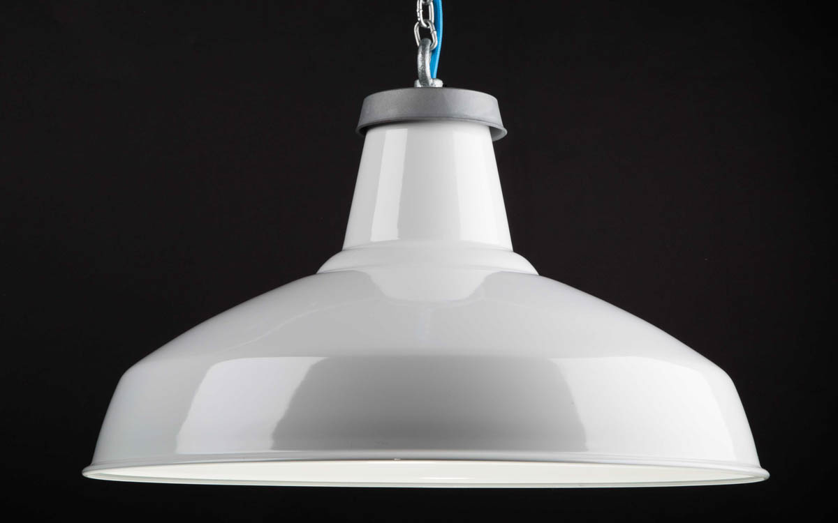 Factorylux white enamel reflector lampshade light shade urban white enamel reflector lamp shade 500mm audiocablefo