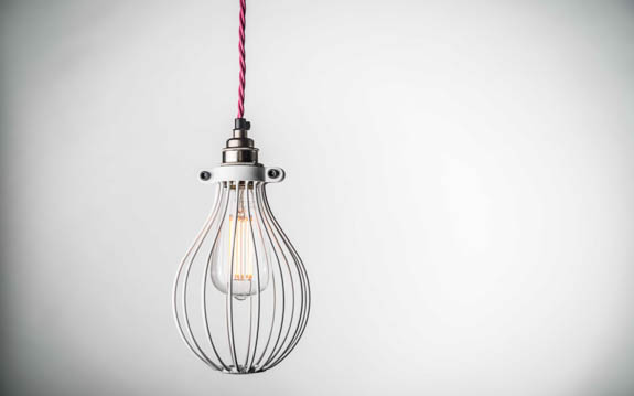 White Large Balloon Light Bulb Cage | 140mm