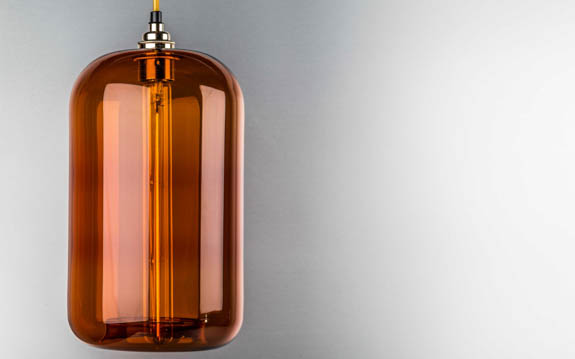 amber glass cylinder lamp shades