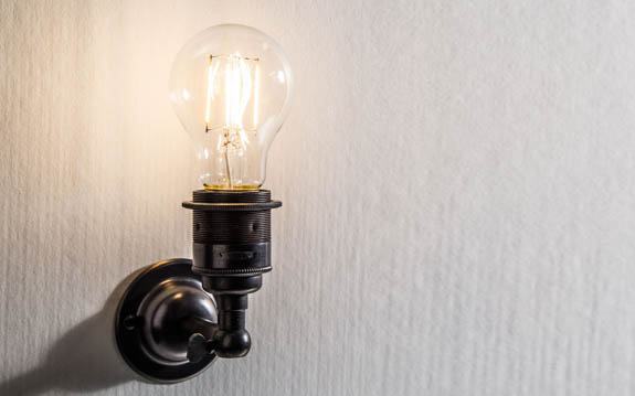 Classic Edison LED-Filament wall light