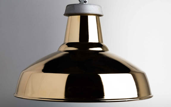 gold industrial lamp shade