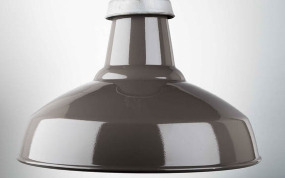 grey enamel industrial lamp shade