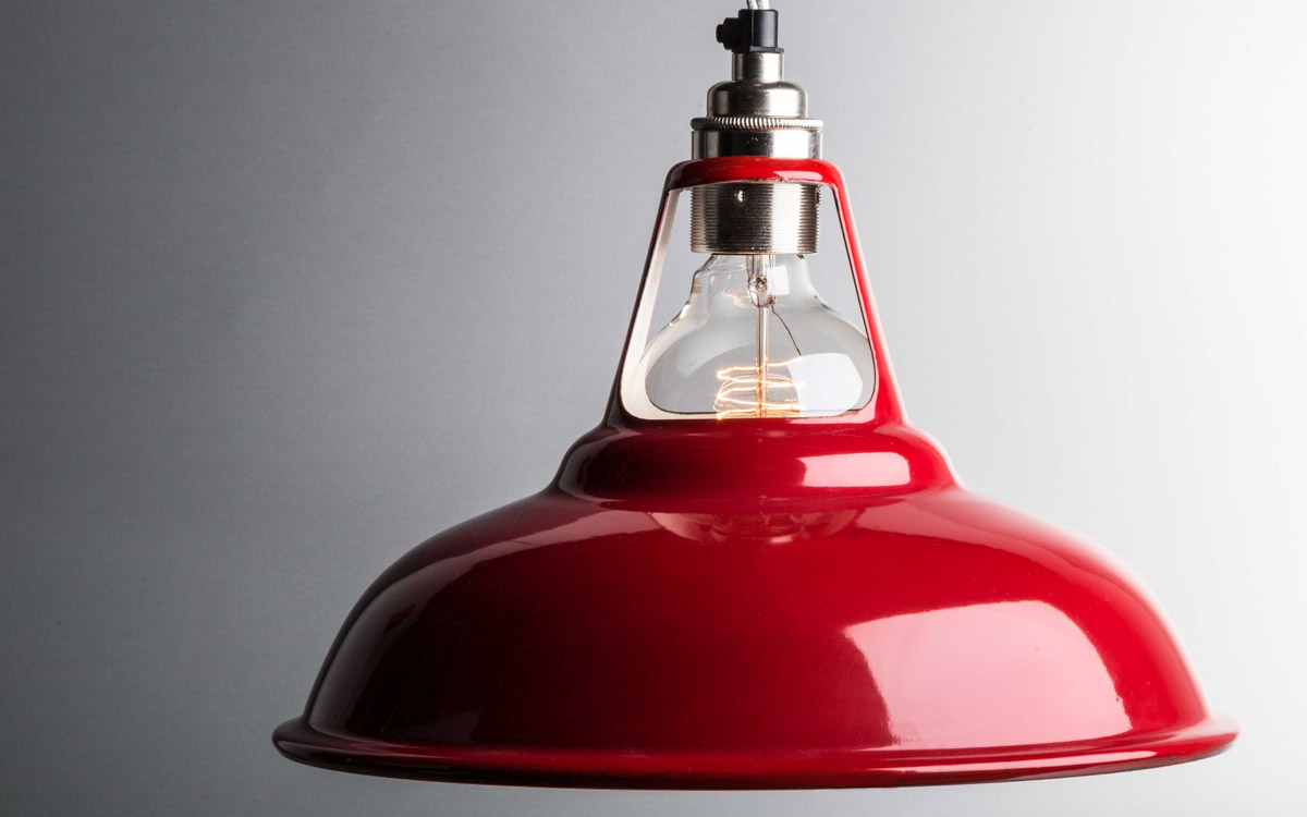 Red coolicon enamel lamp shades factorylux red enamel coolicon lamp shade aloadofball Image collections